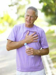 Manifestations de l'essoufflement: douleur à la poitrine,