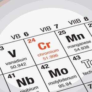 Seul le chrome trivalent est non toxique pour l'organisme humain