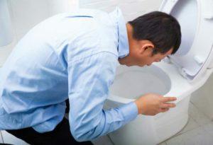 Manifestations de la nausée : perte d'appétit, vertiges, transpiration, affaiblissement, frissons, sueurs, angoisse,...