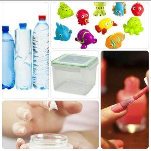 Des phtalates peuvent être retrouvés dans les bouteilles d'eau, jouets, cosmétiques, et les contenants en plastique