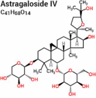 Astragaloside, hétéroside du cycloastragenol