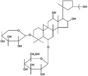 Structure chimique de l'astragaloside IV