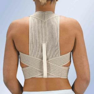 La manifestation de la cyphose dépend des vertèbres atteintes