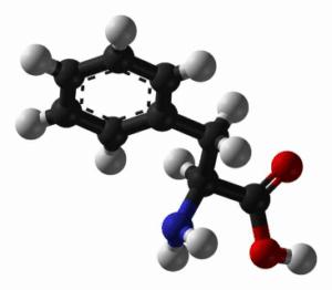La phénylalanine est un acide aminé aromatique, composant de l'aspartame